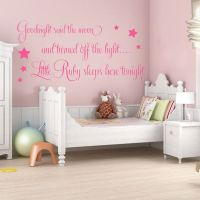 Personalised Goodnight Said the Moon Baby Girls Wall