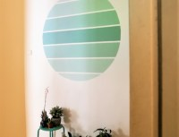 Bamboo accent wall - DIY faux wallpaper home decor project ...
