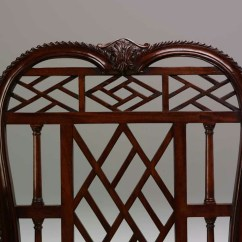 Chinese Chippendale Chairs Uk Victorian Gothic M138 Chair Fine Bespoke Custom Built Detail Picture 1