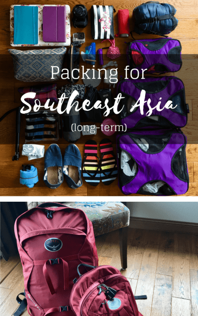 Packing for Southeast Asia (long-term) | The Wanderful Me