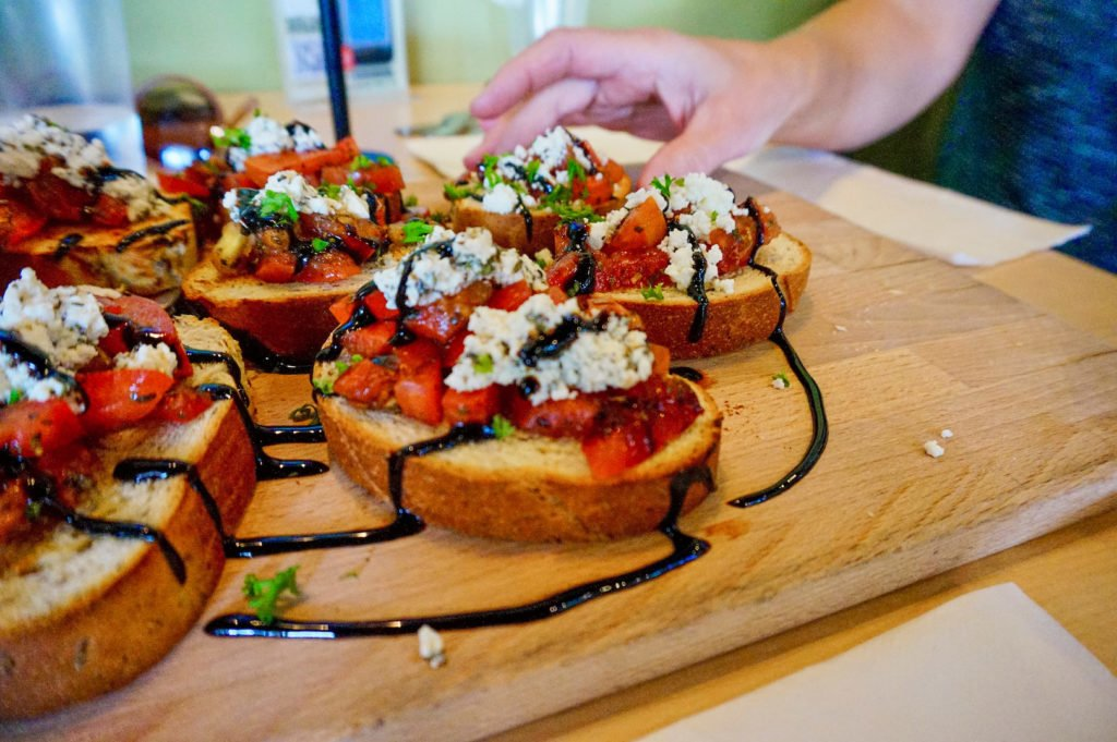 Bruschetta, The Cutting Board Bakery and Cafe • 10 Fantastic Vegan Restaurants in Phoenix, Arizona