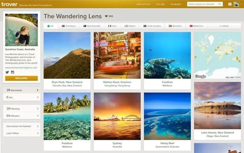 The Wandering Lens on Trover