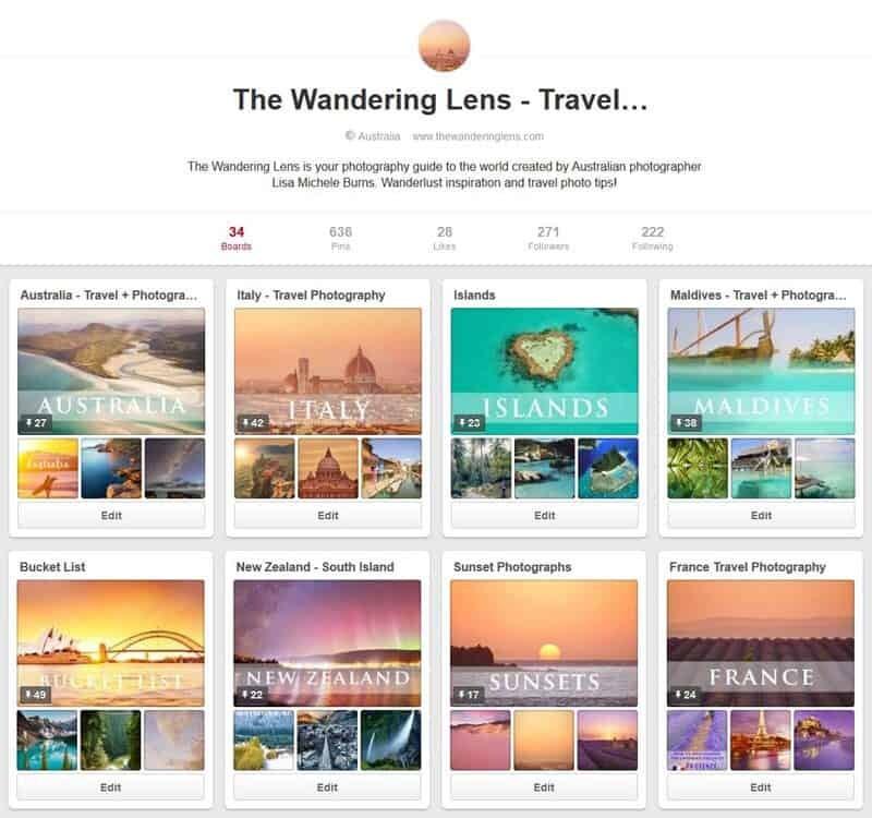 The Wandering Lens on Pinterest
