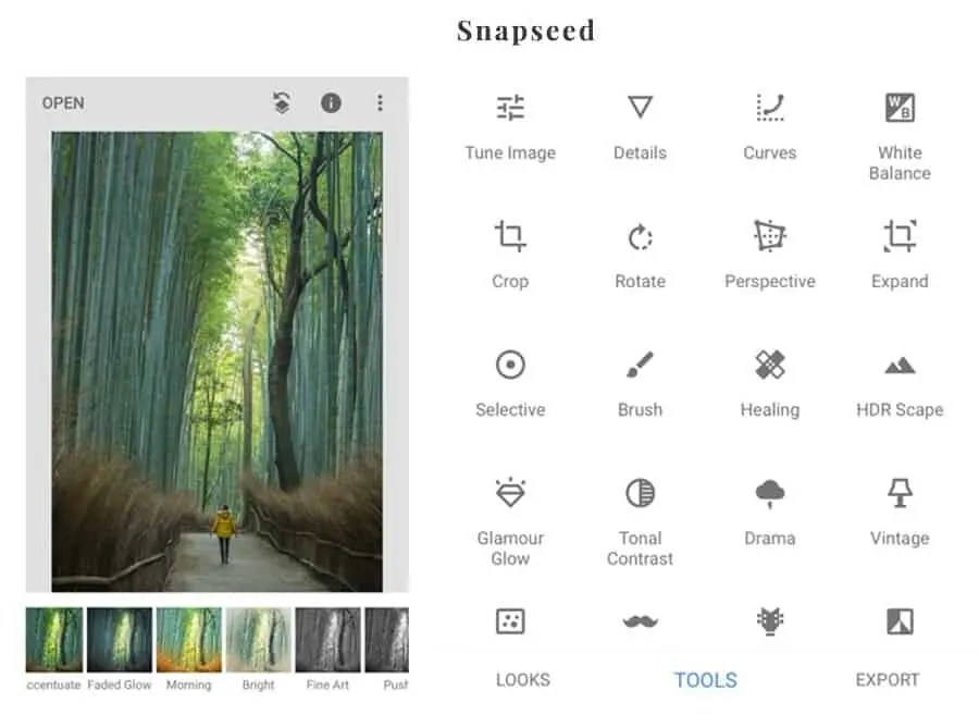 The best editing apps for your phone - Snapseed