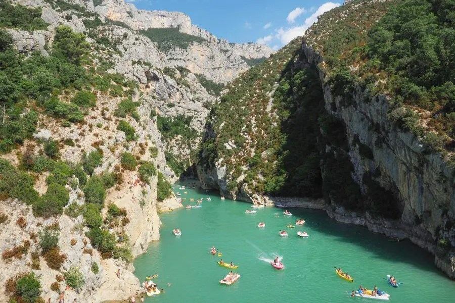 Kayaking the Gorges du Verdon in France by