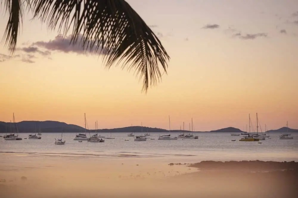 Airlie Beach foreshore in the Whitsundays, Queensland, Australia