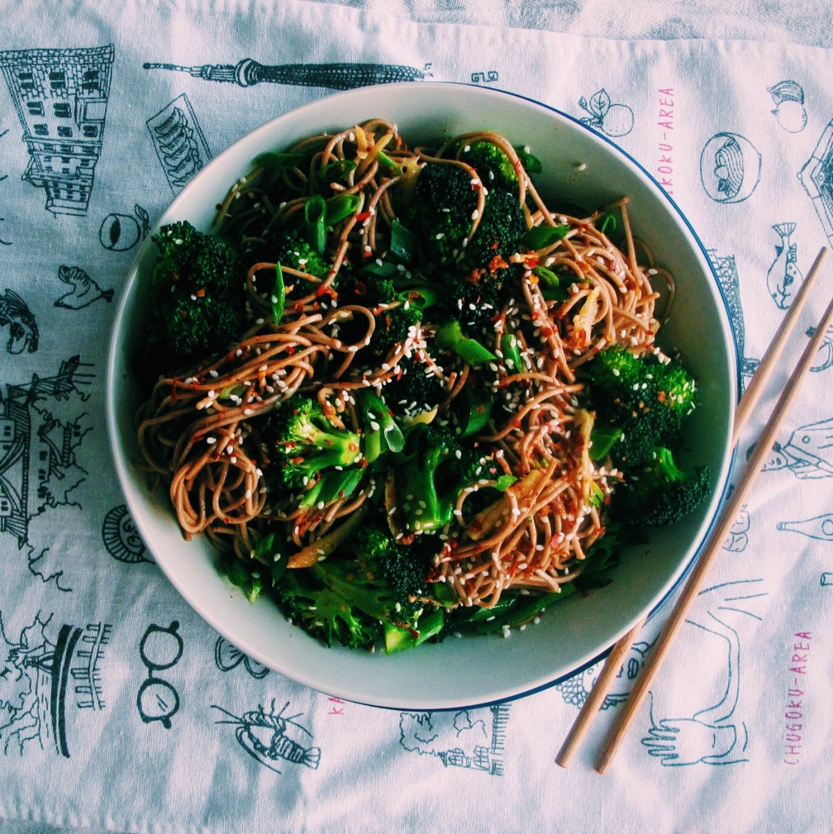 Broccoli, Ginger & Sesame Soba Bowls