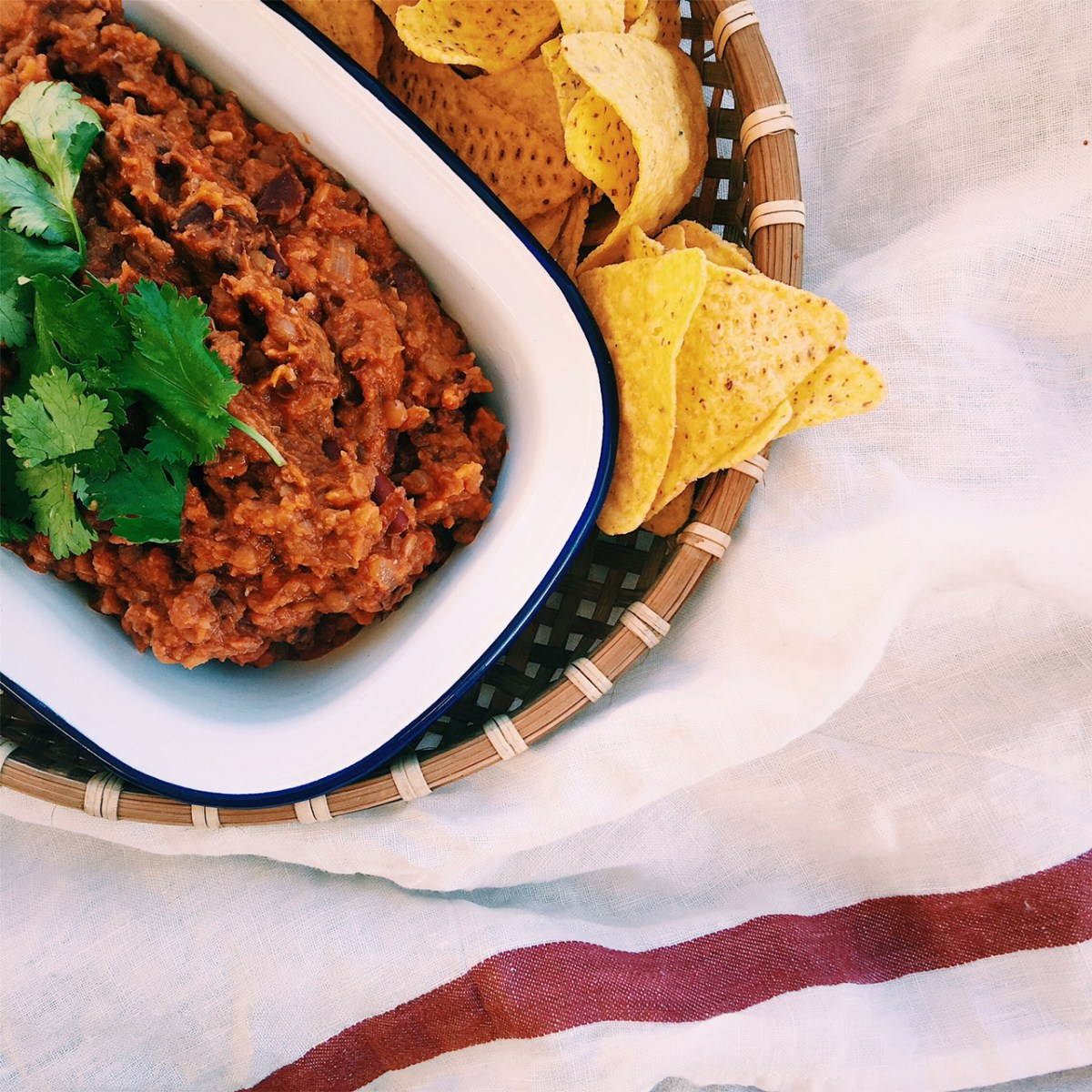 Spicy Lentil & Bean Mexican Dip
