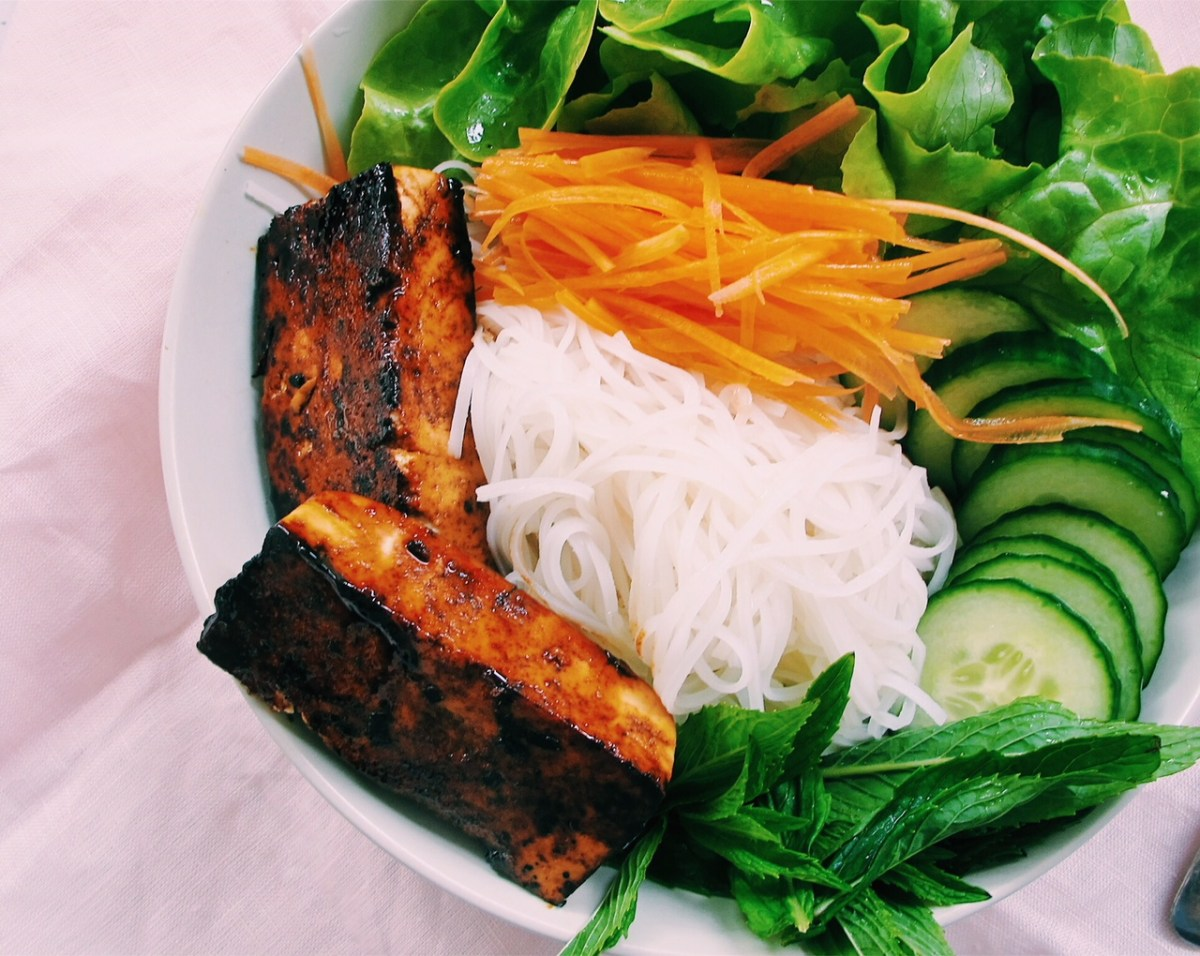 Caramelised Sticky Tofu Vietnamese Noodle Bowl