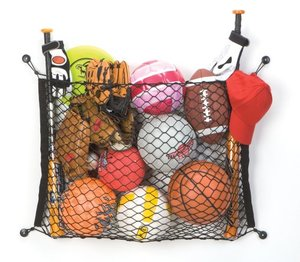 RV space saver: store sports balls with a net!