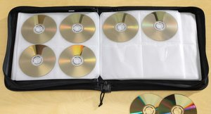 RV space saving ideas: Store your DVDs and CDs in a binder!