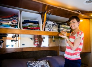 RV space-saving storage bins