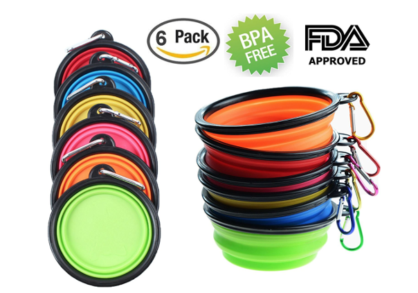 Collapsible bowls for dogs