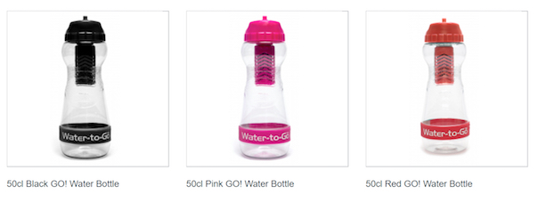 Water-to-go bottles