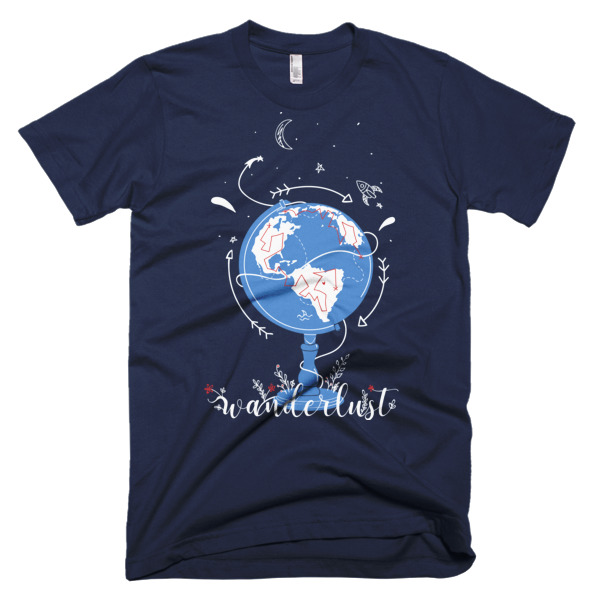 Wanderlust Shirt Navy Blue