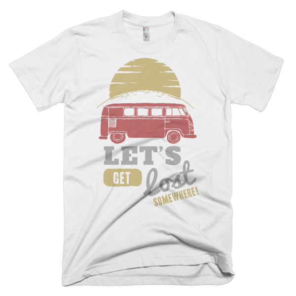 Let's Get Lost Somewhere T-Shirt White