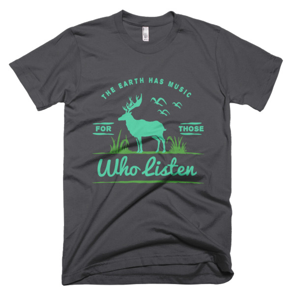 The Eart Has Music T-Shirt Gray