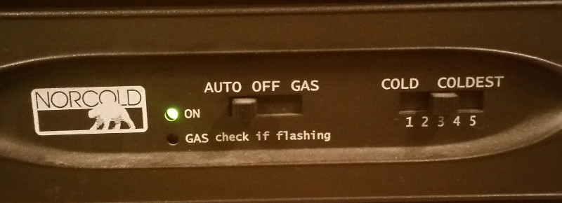 RV refrigerator LP gas switch