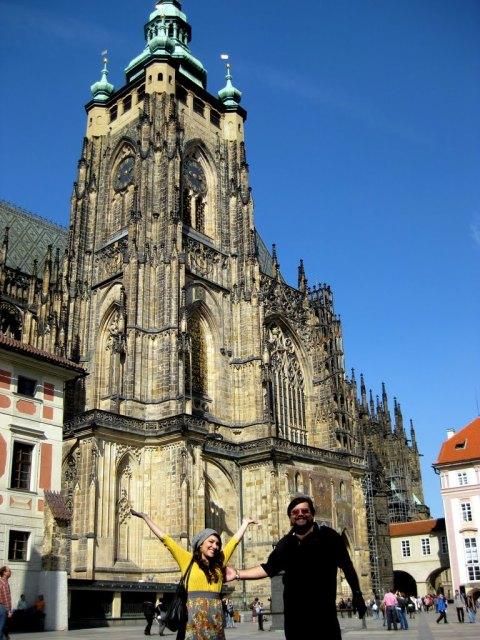 Dad & Tiff at Prague Castle!