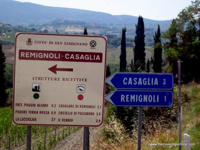 En route to San Gimignano, Italy