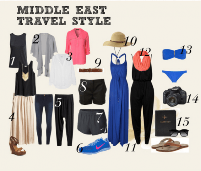 Packing for the Middle East