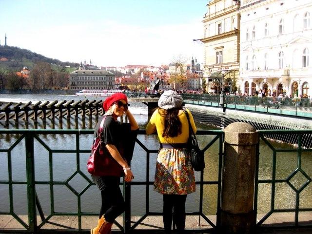 Overlooking the Vlatva River in Prague