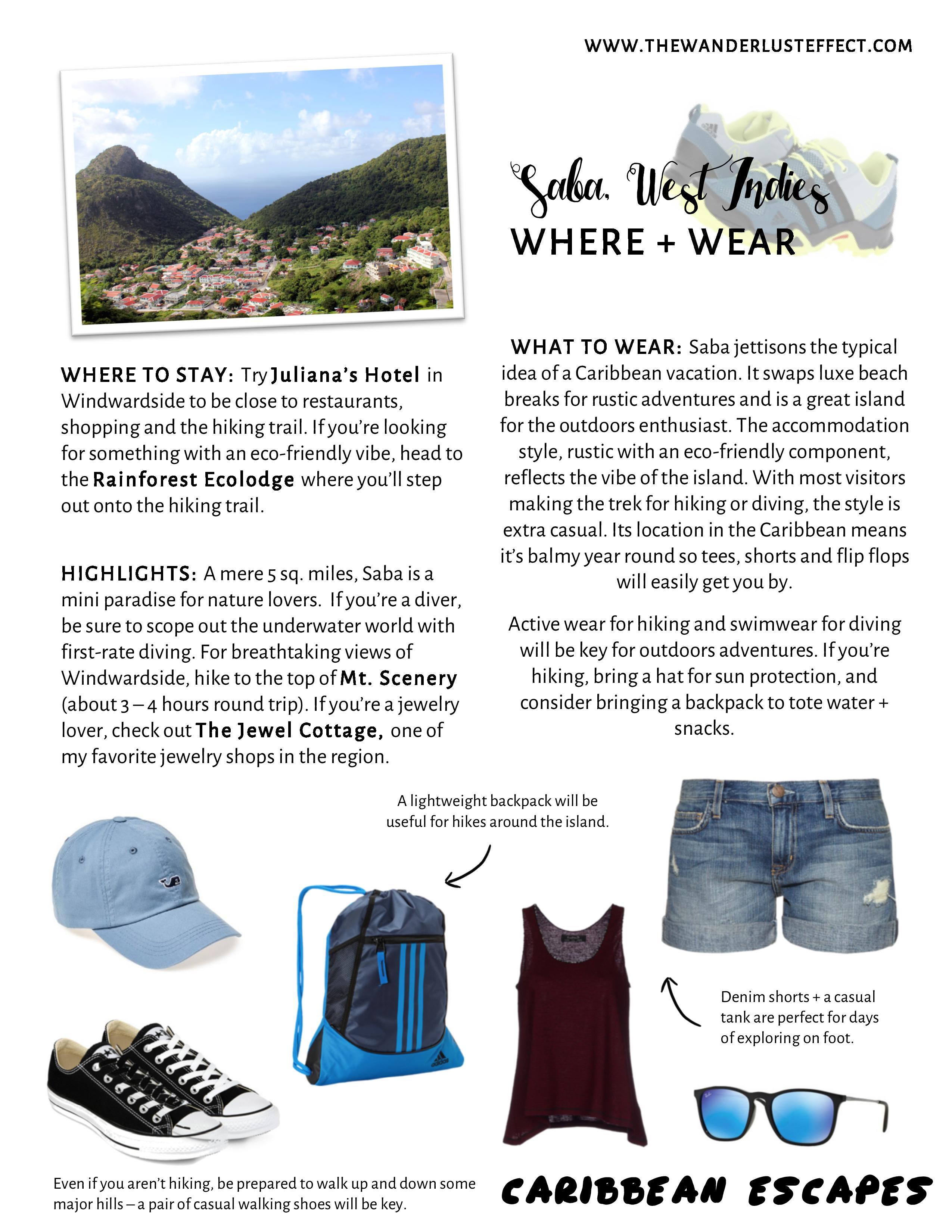 Style Travel Guide for Saba, West Indies #Caribbean #Adventure #TravelFashion
