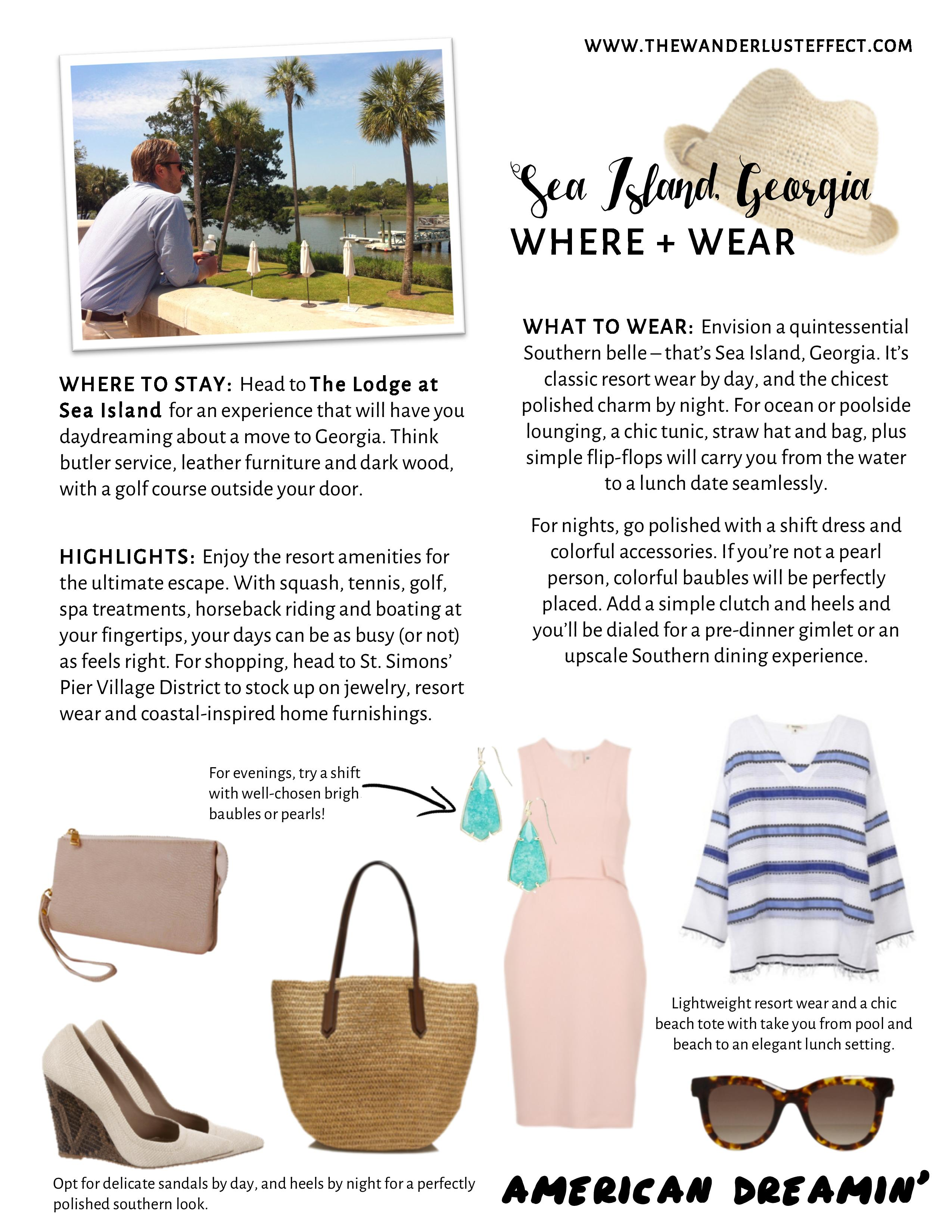 What to Wear Sea Island Georgia