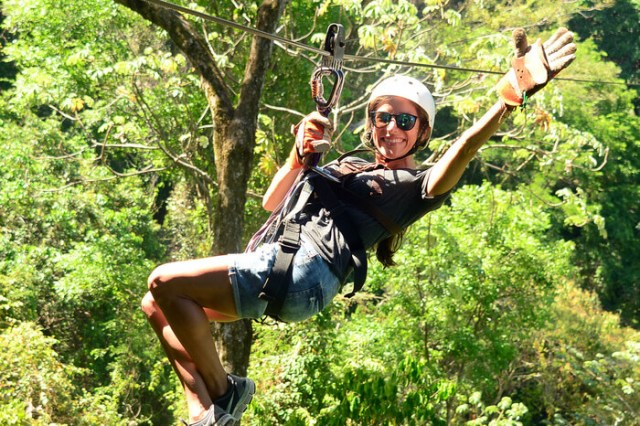 Ziplining at Los Suenos, Costa Rica
