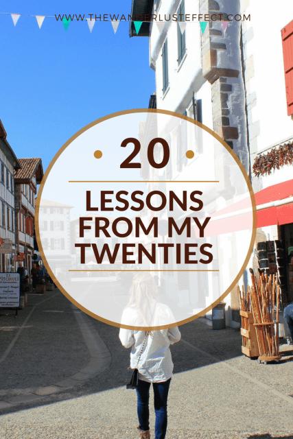 Twenty Lessons from My Twenties