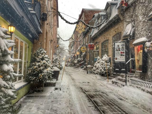 quartier petit champlain christmas in quebec city
