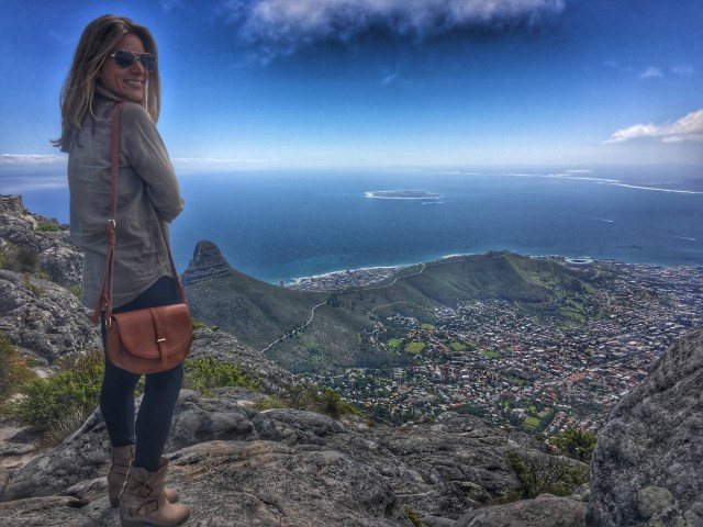 Seeing Cape Town from the top of Table Mountain.