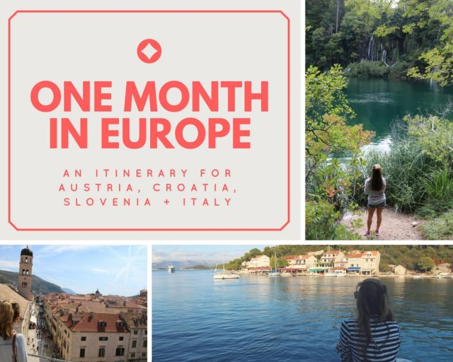 Itinerary: A Month in Europe