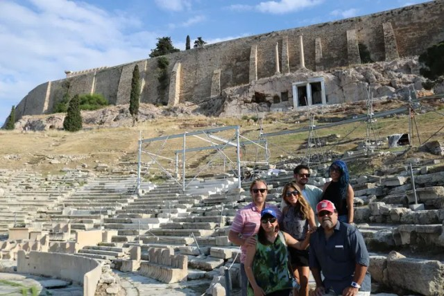 Visiting the Acropolis, Athens