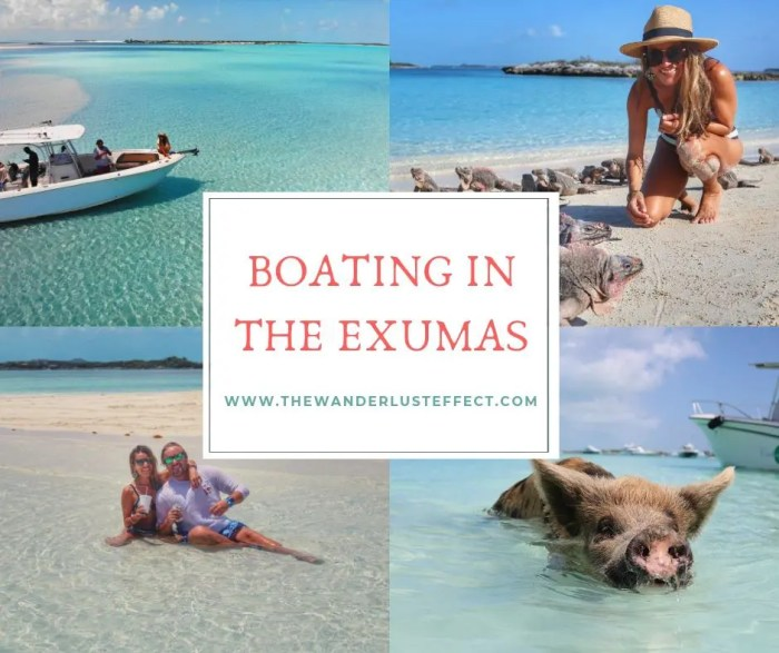 Boating in the Exumas