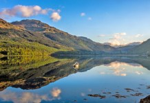 Loch Lomond is Scotland's largest lake with an area of approximately 71 km². It stretches 39 km north-south