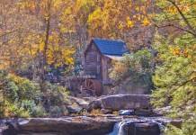 Located next to the park, the flour mill on the Glade Creek River is one of the state's most frequently photographed tourist destinations