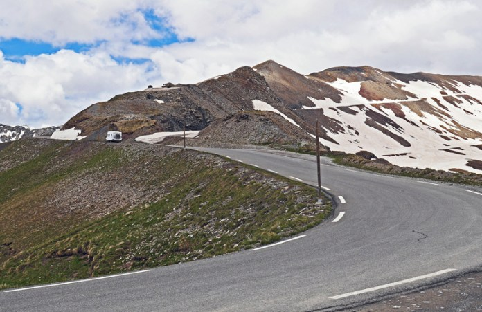 Col de la Bonette - Bonette Pass (2715 masl) is a mountain pass in the French Alps, near the border with Italy.