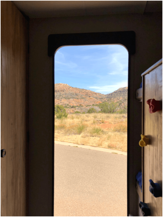 Palo Duro Canyon View from Camper