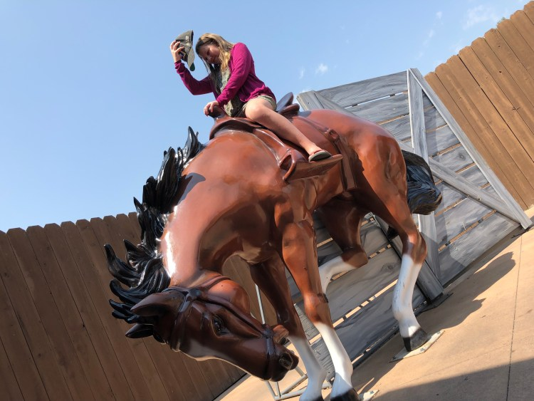 Horse photo prop at Wall Drug