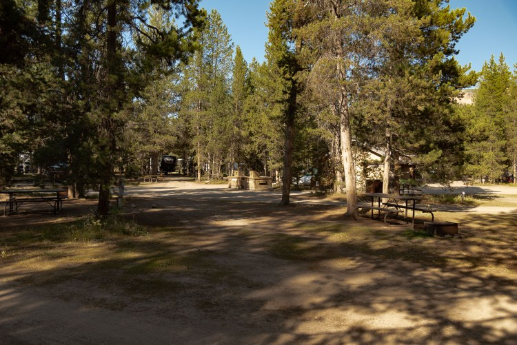 Large RV sites at Headwaters Flagg Ranch
