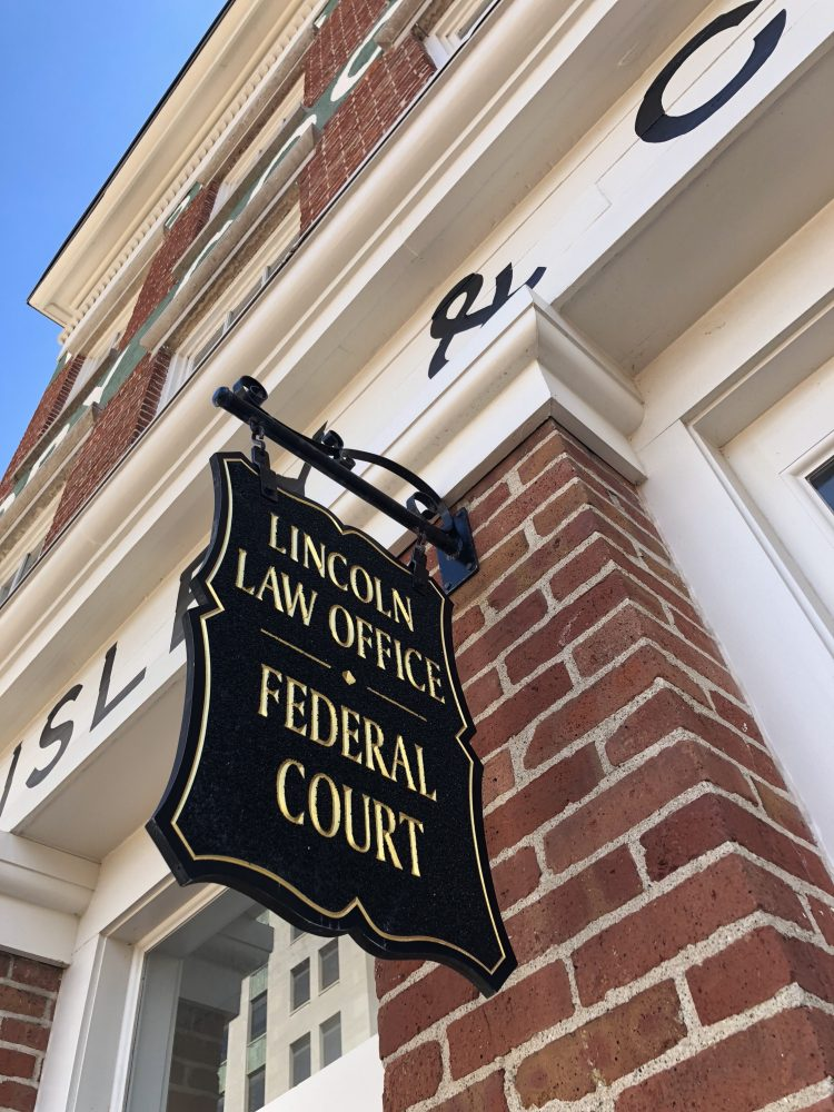 Lincoln Law Office sign