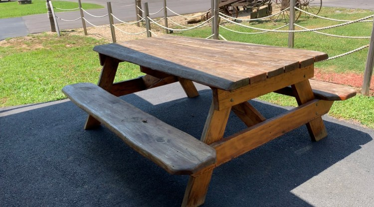 Duvall in the Smokies picnic table