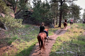 Emmy and Baker Horseback Riding Norbeck Wildlife Preserver