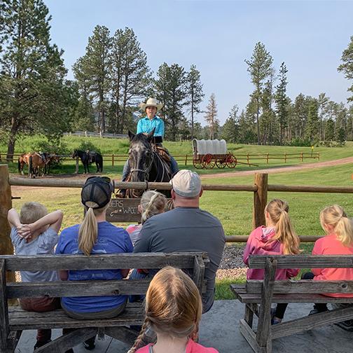 The Stables at Palmer Gulch Horseback riding education