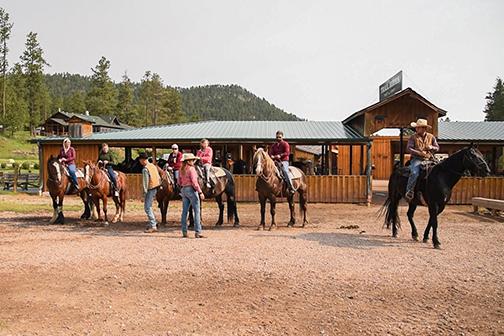 Palmer Gulch Custer Trail Horseback riding group