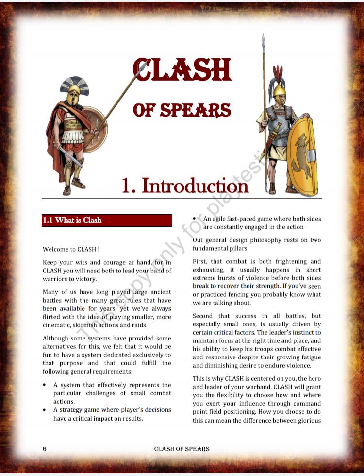 Introducing CLASH of Spears ! – The Wargame Spot