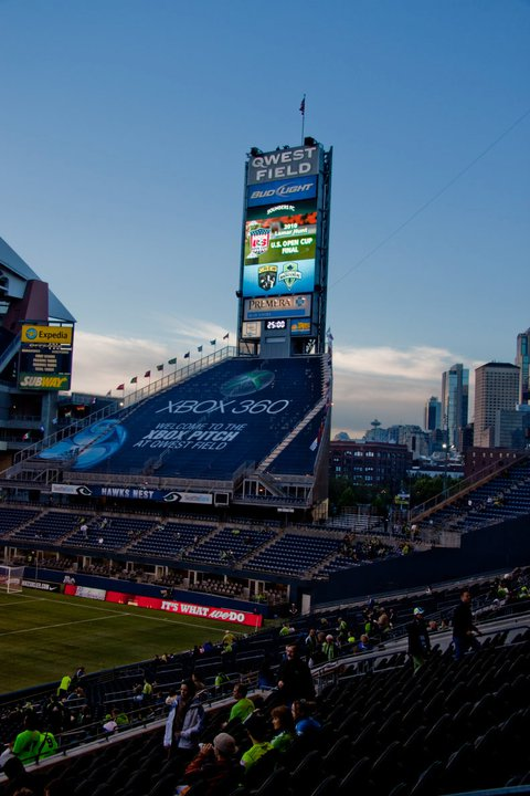 Qwest Before Sounders Arrive for Open Cup Play