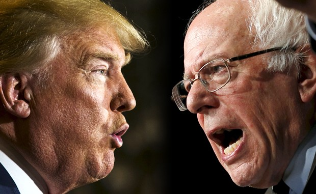 Donald Trump, Bernie Sanders (Credit: Reuters/Lucas Jackson/Jim Young/Photo montage by Salon)