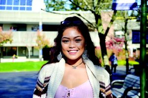 """Cherelle Mendoza: """"Since I grew up in the area all my friends and family are here as well."""""""